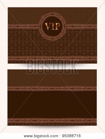 Vector Luxury VIP Business Card