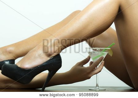 Straight Legs And Cocktail