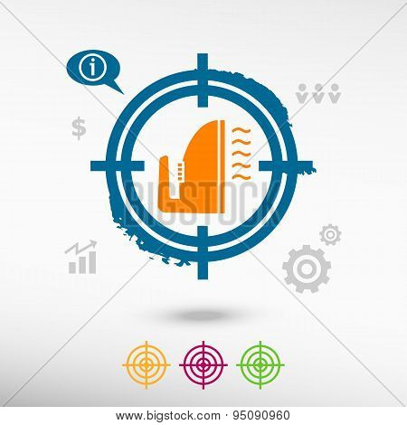 Smoothing Icon On Target Icons Background