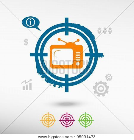 Televise On Target Icons Background