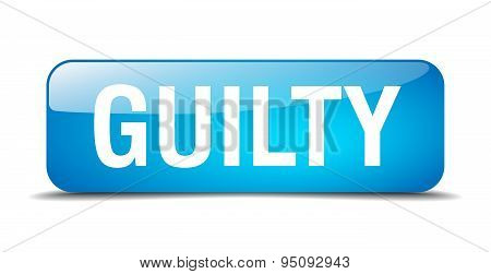 Guilty Blue Square 3D Realistic Isolated Web Button