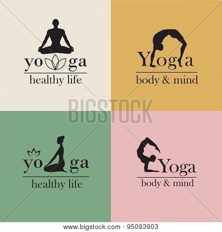 logos for yoga studio