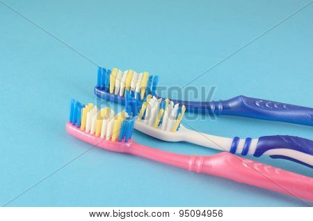 Tooth-brushes Over Blue