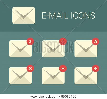Mail design elements for website.