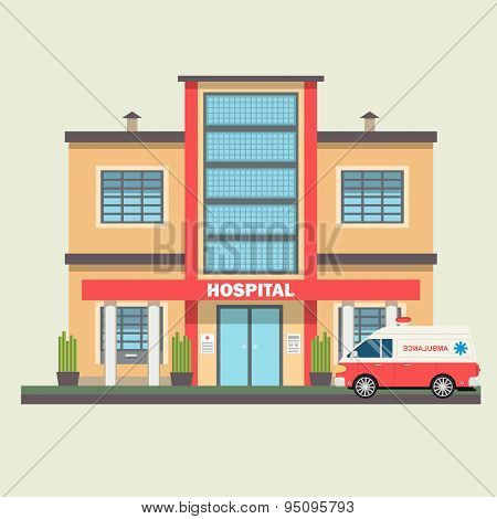 Vector design of hospital