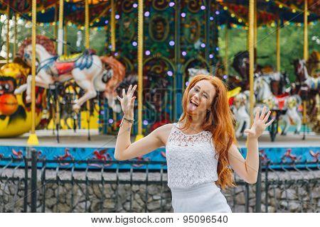 Beautiful red hair girl