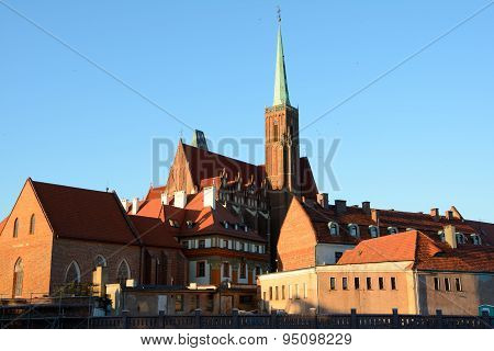St Cross Church Tower In Wroclaw, Poland