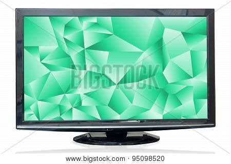 Television Monitor Texture Jade Isolated On White Background.