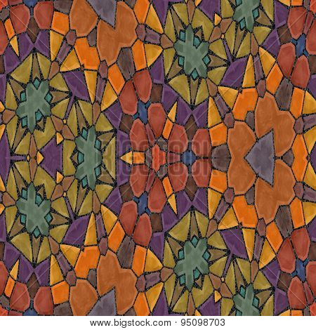 Seamless Ornate Mosaic Background Or Pattern