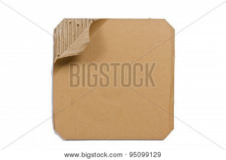 Corrugated Cardboard - Brown Paper Sheet, Isolated