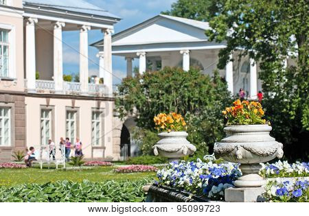 Tsarskoye Selo (Pushkin). Saint-Petersburg, Russia. The Private Garden, The Cameron Gallery, The Han