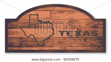 Texas Wooden Sign