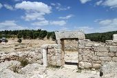 image of synagogue  - ruins of the synagogue of the 1st century AD the settlement Anim Israel - JPG