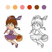 foto of fairies  - Coloring book for children  - JPG