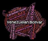 pic of bolivar  - Venezuelan Bolivar Showing Worldwide Trading And Banknotes - JPG
