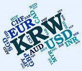 picture of korean  - Krw Currency Meaning South Korean Wons And South Korean Won - JPG
