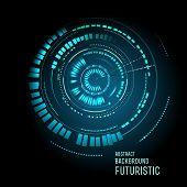 picture of futuristic  - illustration of Futuristic interface - JPG
