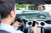 Texting And Driving Cause Traffic Accidents poster