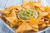 picture of nachos  - Nachos with Guacamole  - JPG