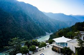 image of gang  - Home in the Himalya mountains on the edge of the ganges river - JPG