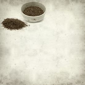 foto of fynbos  - textured old paper background with Rooibos tea - JPG