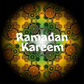 stock photo of ramadan mubarak card  - Ramadan Kareem beautiful greeting card - JPG