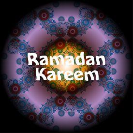 picture of ramadan mubarak card  - Ramadan Kareem beautiful greeting card - JPG