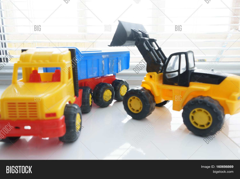 toy wheel loader toy dump truck image u0026 photo bigstock