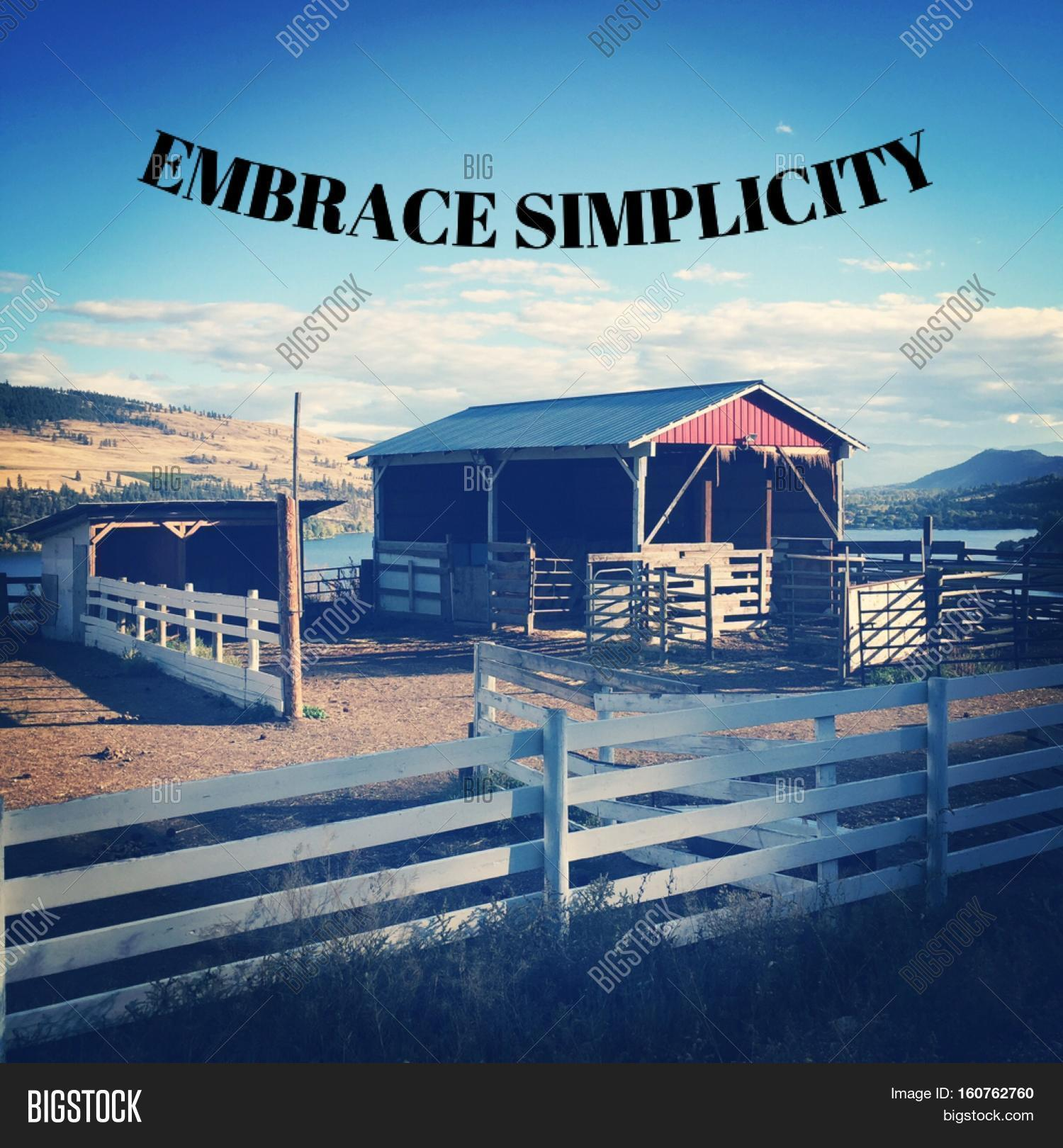 Scenic quotes daily inspirational quotations and sayings on - Inspirational Quote On Scenic Farm Landscape Scene With Red Barn Stable Behind White Fences Lake
