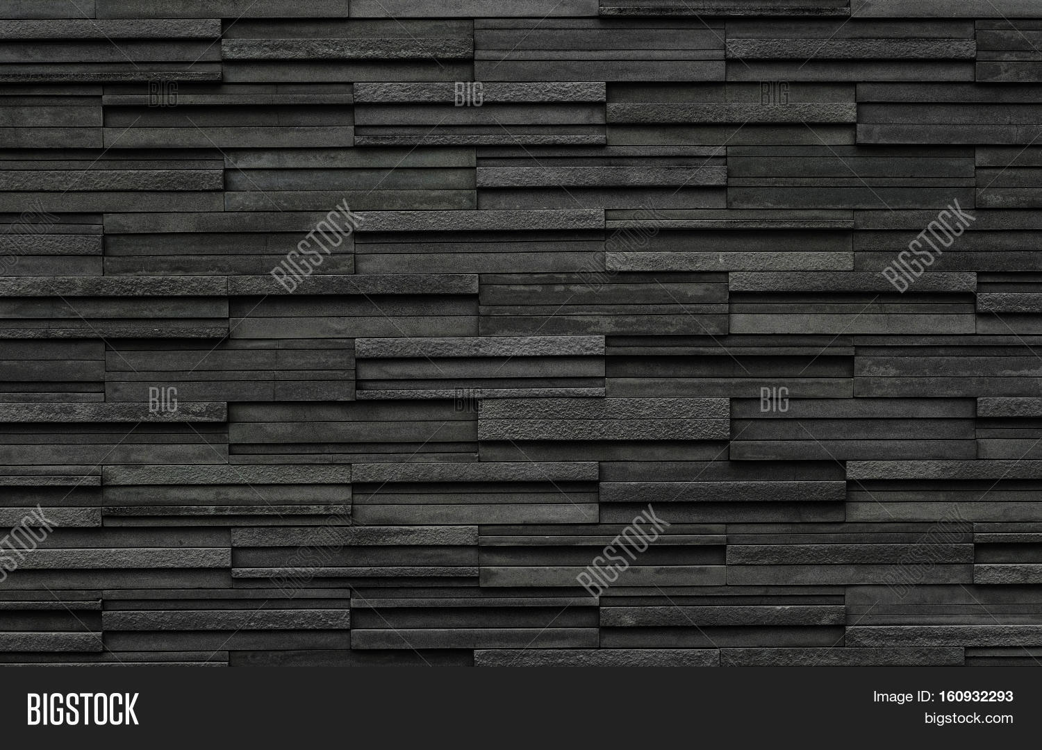 Black Bricks Slate Texture Image amp Photo Bigstock