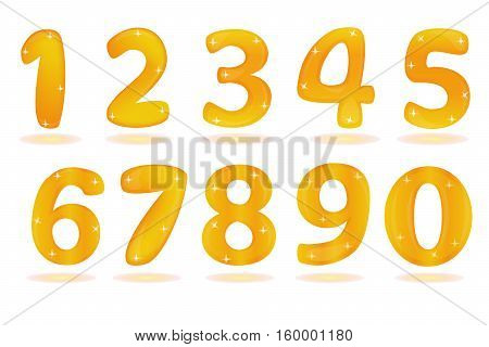 Number from 0 to 9 isolated in white background. Eps10.