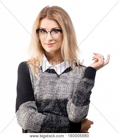 Smart woman in business casual style young founder