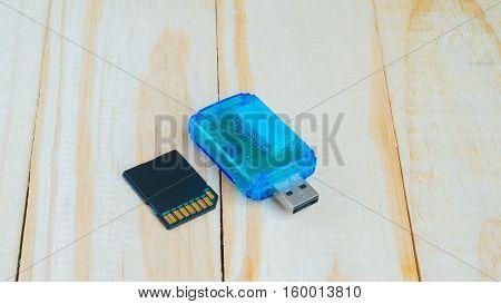 USB Gard reeder for multi gard on wooden