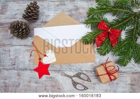 Kraft Envelope Christmas Letters And Handmade Decorations