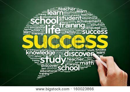 Success Think Bubble Word Cloud