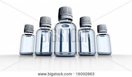 Medical bottles.