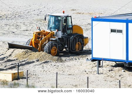 Work At The Beach - Equalizing  For Placing Cabins