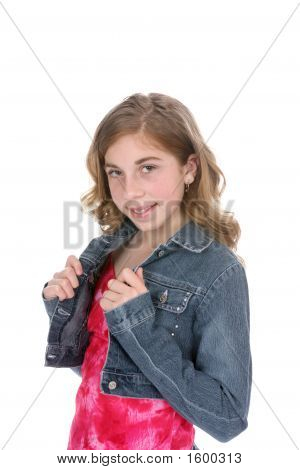 Young Girl With Demin Jacket (Bl)