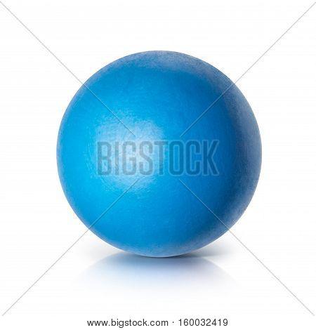 Blue ball 3D illustration on white background