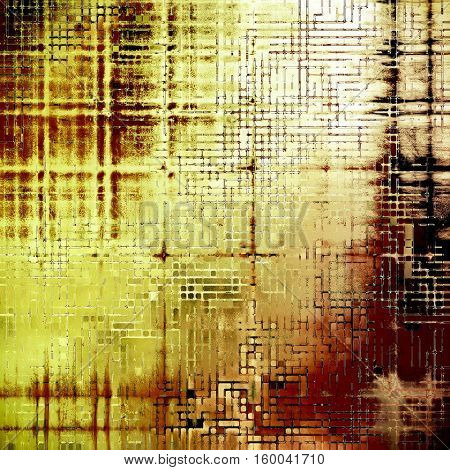 Grunge scratched background, abstract vintage style texture with different color patterns: yellow (beige); brown; red (orange); black; white