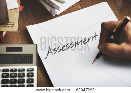 Audit Assessment Accounting Financial Analysis Evaluation Concept
