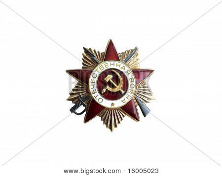 Order of Patriotic War in Soviet Union isolated on white