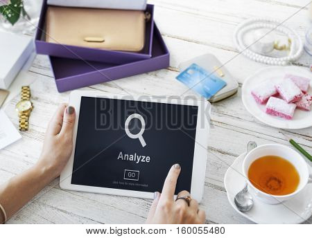 Analyze Research Work Strategy Concept