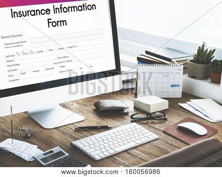Insurance Service Information Form Concept