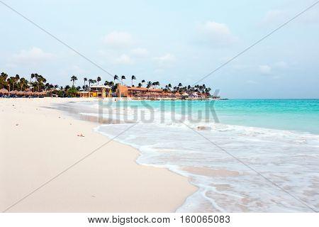 Druif beach on Aruba island in the Caribbean Sea