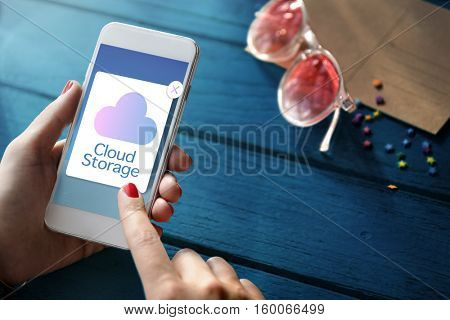 Cloud Computing Storage Icon Concept