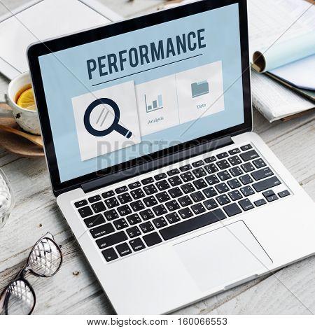 Statistics Information Performance Chart Concept