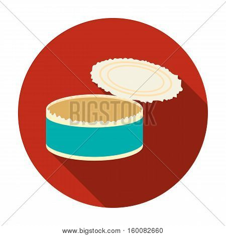 Opened metal tin can icon in flat style isolated on white background. Trash and garbage symbol vector illustration.