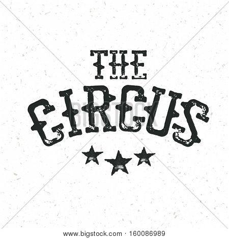 Classical circus logo design