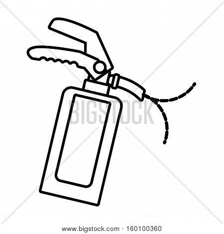 outline fire extinguisher safety security industrial vector illustration eps 10